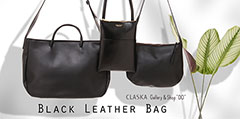 CLASKA / Black Leather Bag